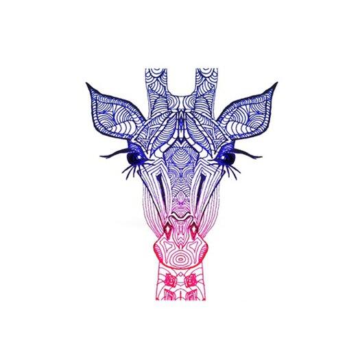 KESS InHouse Rainbow Giraffe Placemat