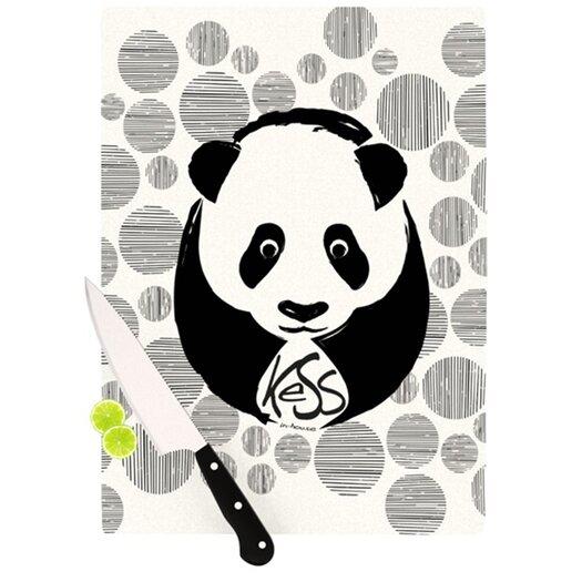 KESS InHouse Panda Cutting Board