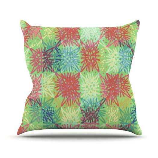 KESS InHouse Multi Lacy Throw Pillow