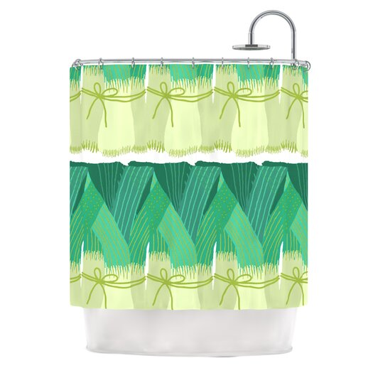 KESS InHouse Leeks Shower Curtain
