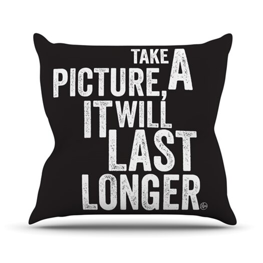KESS InHouse Take a Picture Throw Pillow