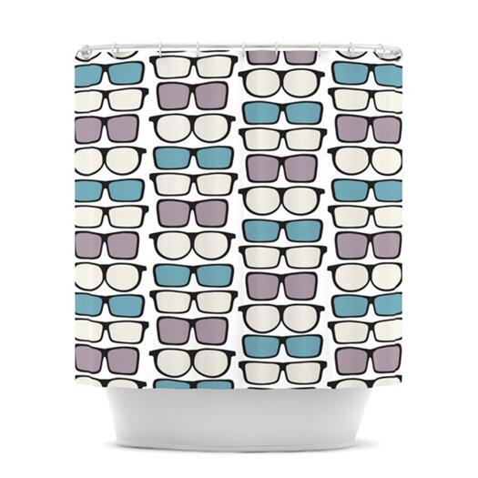 KESS InHouse Spectacles Geek Chic Shower Curtain