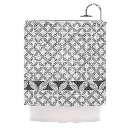 KESS InHouse Diamond Shower Curtain