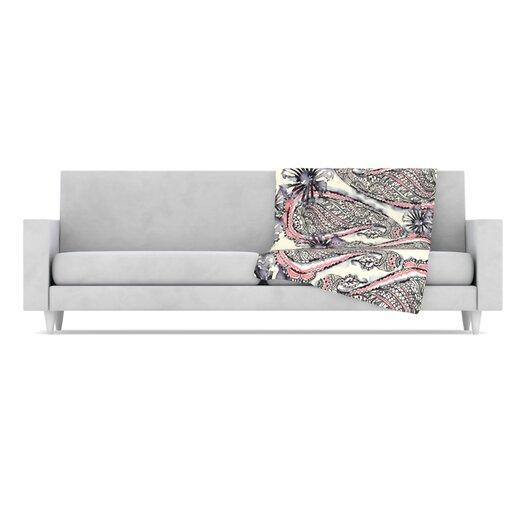 KESS InHouse Inky Paisley Bloom Throw Blanket