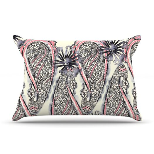 KESS InHouse Inky Paisley Bloom Pillow Case