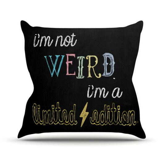 KESS InHouse Weird Throw Pillow