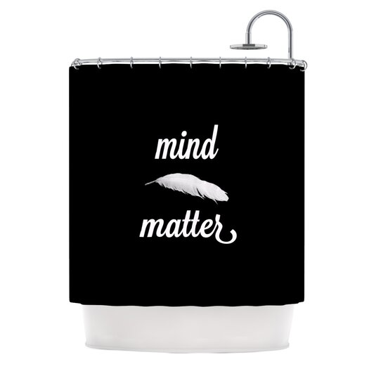 KESS InHouse Mind Over Matter Shower Curtain
