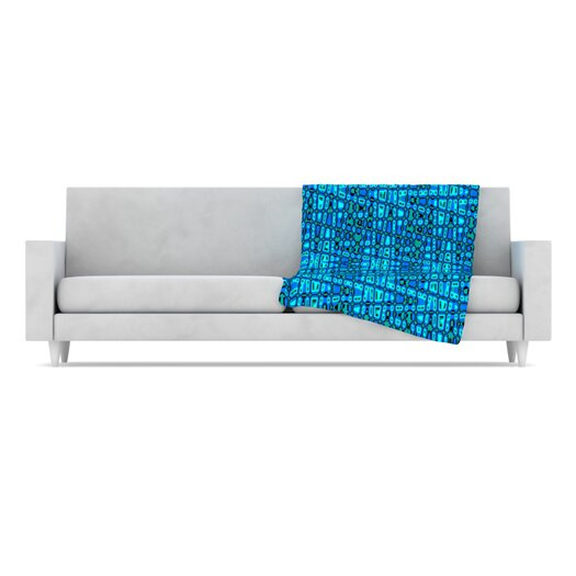KESS InHouse Variblue Fleece Throw Blanket