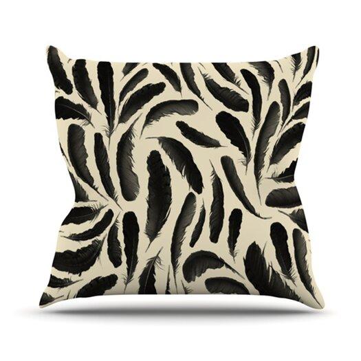 KESS InHouse Feather Pattern Throw Pillow