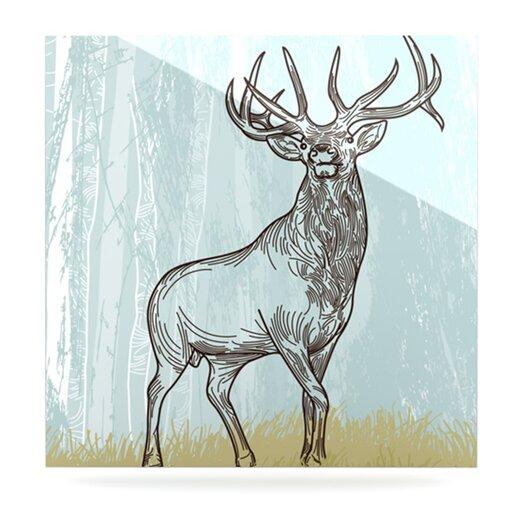 KESS InHouse Elk Scene by Sam Posnick Graphic Art Plaque