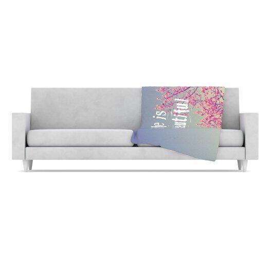 KESS InHouse Life Is Beautiful Fleece Throw Blanket