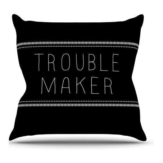 KESS InHouse Trouble Maker Throw Pillow