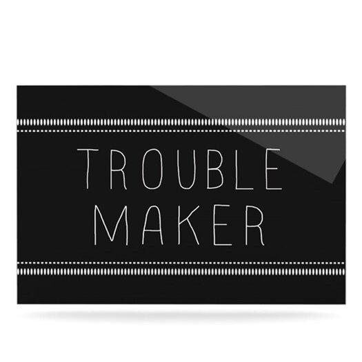 KESS InHouse Trouble Maker by Skye Zambrana Textual Art Plaque