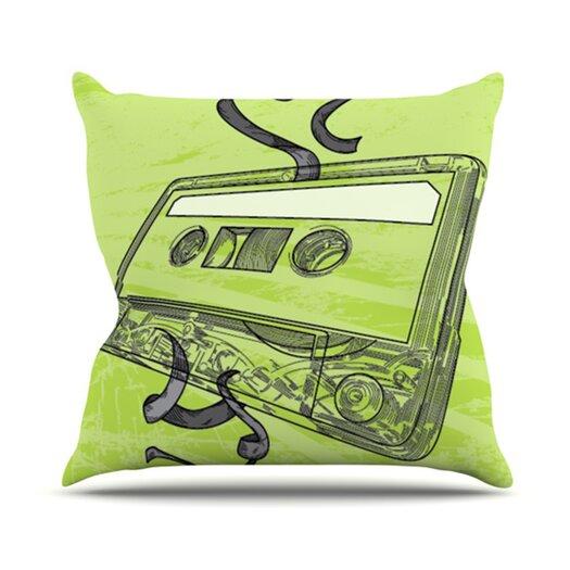 KESS InHouse Mixtape Throw Pillow