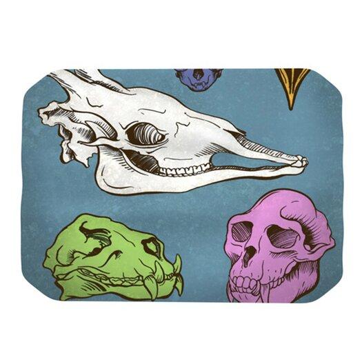 KESS InHouse Skulls Placemat