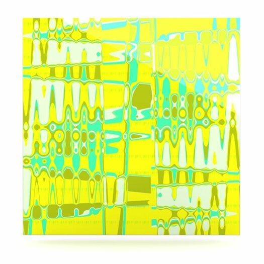 KESS InHouse Changing Gears in Sunshine by Vikki Salmela Graphic Art Plaque