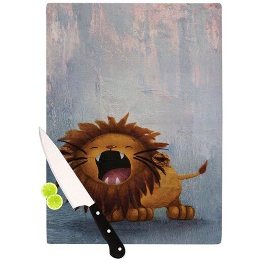 KESS InHouse Dandy Lion Cutting Board