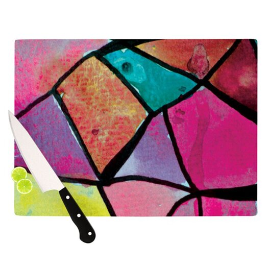 KESS InHouse Stain Glass 3 Cutting Board