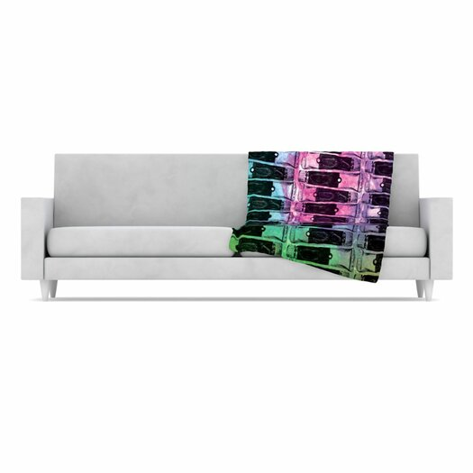KESS InHouse Paint Tubes II Fleece Throw Blanket