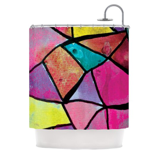 KESS InHouse Stain Glass 3 Shower Curtain