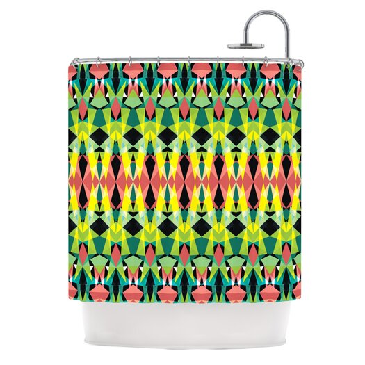 KESS InHouse Triangle Visions Shower Curtain