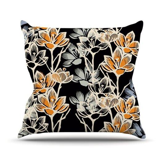 KESS InHouse Crocus Throw Pillow