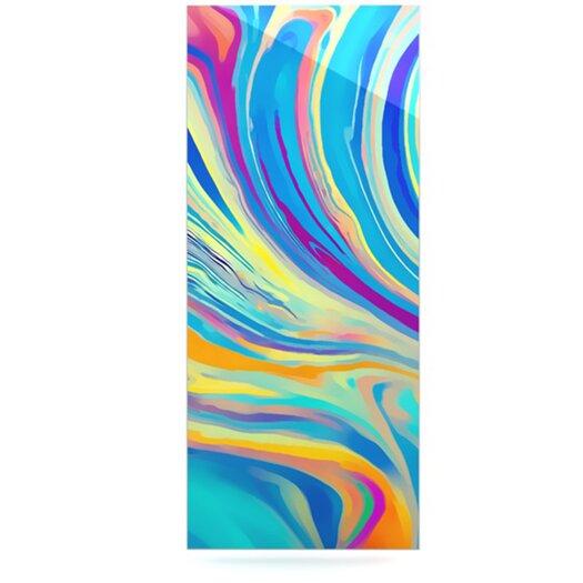 KESS InHouse Rainbow Swirl by Ingrid Beddoes Graphic Art Plaque