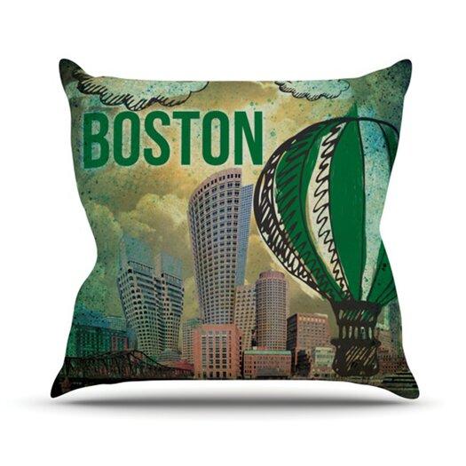 KESS InHouse Boston Throw Pillow