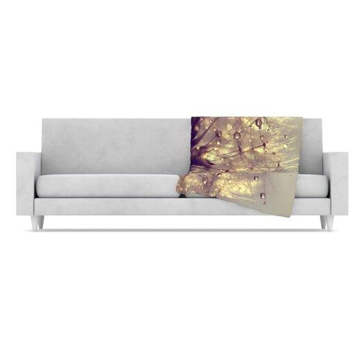 KESS InHouse Sparkles of Gold Throw Blanket