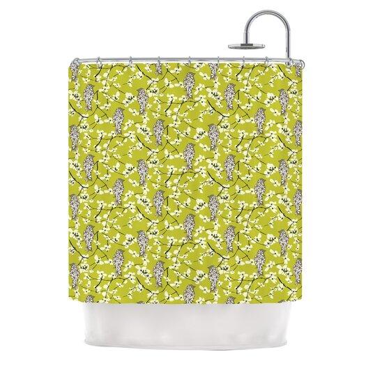 KESS InHouse Blossom Bird Shower Curtain