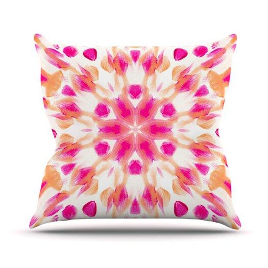 KESS InHouse Batik Mandala Throw Pillow