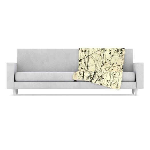 KESS InHouse Boughs Neutral Throw Blanket