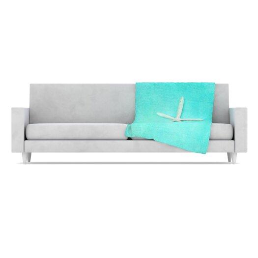 KESS InHouse Starfish Fleece Throw Blanket