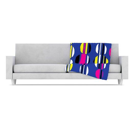 KESS InHouse Retro Circles Throw Blanket