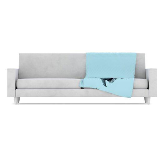 KESS InHouse Shark Record II Throw Blanket