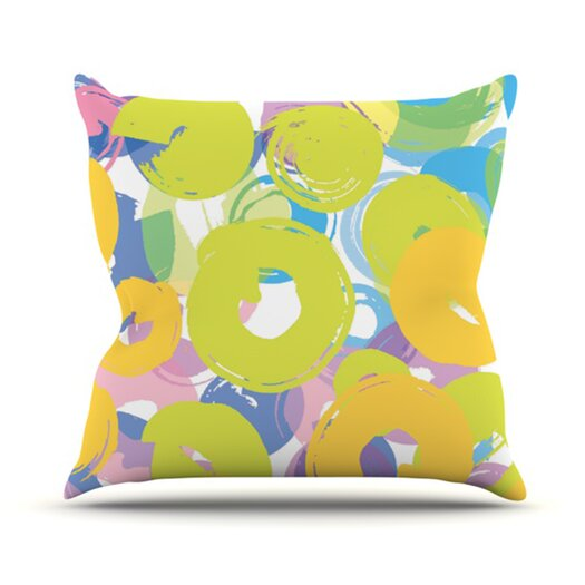 KESS InHouse Circle Me Throw Pillow