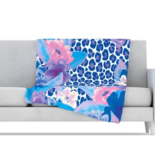 KESS InHouse Leopard Throw Blanket