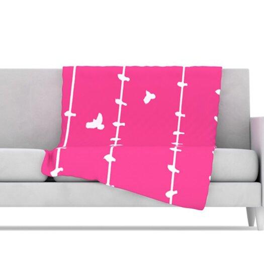 KESS InHouse Birds Throw Blanket