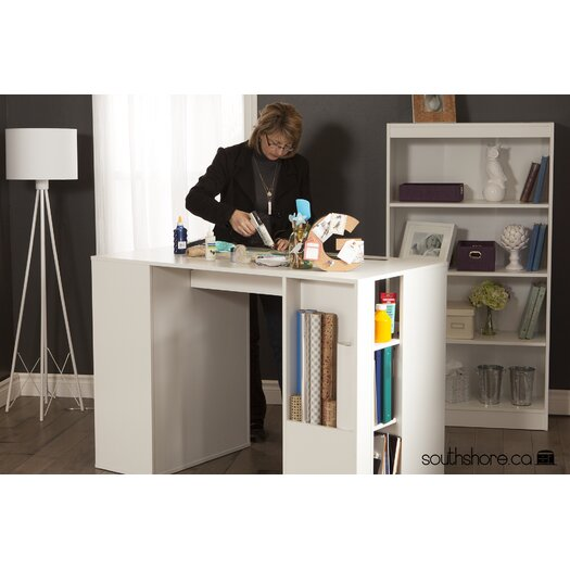 south shore crea counter height craft table allmodern. Black Bedroom Furniture Sets. Home Design Ideas