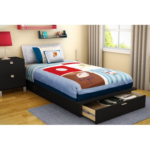 South Shore Twin Platform Bed with Storage