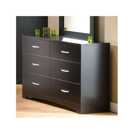 South Shore Back Bay 6 Drawer Double Dresser