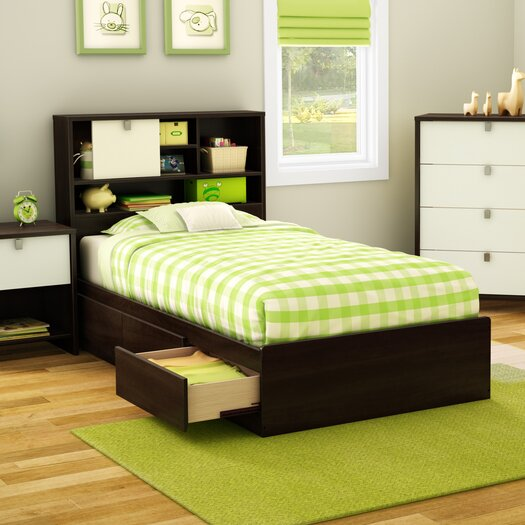 South Shore Cookie Twin Mate's Bed with Storage