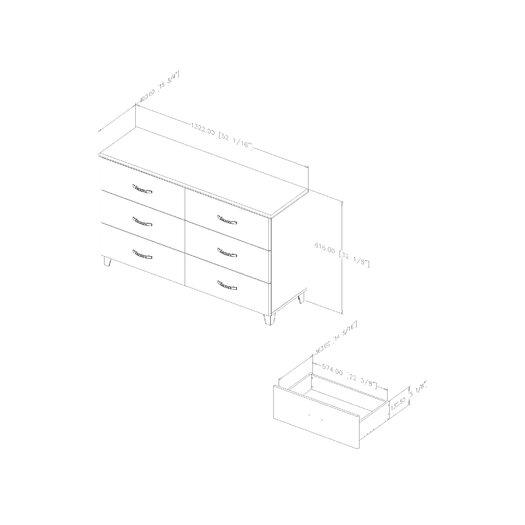South Shore Lazer 6 Drawer Dresser