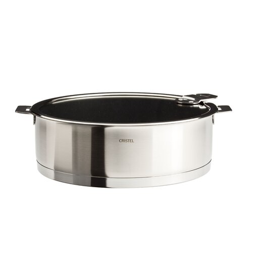 Cristel Strate Saute Pan with Lid and Optional Handle