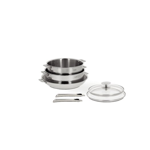 Cristel Casteline 7-Piece Cookware Set with Optional Handle