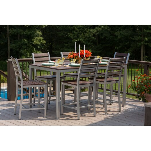 Counter Height Outdoor Dining Sets : Elan Furniture Loft 7 Piece Counter Height Dining Set AllModern