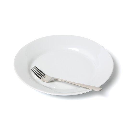 "Ten Strawberry Street Royal White 9"" Lunch Plate"