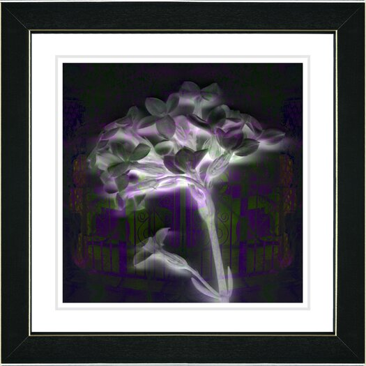 "Studio Works Modern ""Purple Floral Montage"" by Zhee Singer Framed Fine Art Giclee Painting Print"