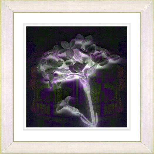 "Studio Works Modern ""Purple Floral Montage"" by Zhee Singer Framed Fine Art Giclee Painting Print"