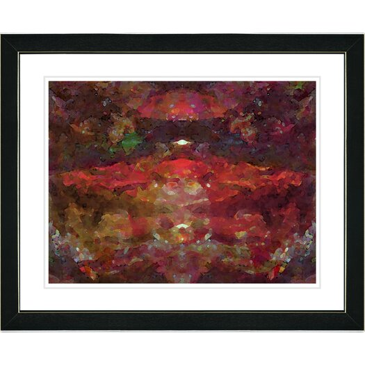 """Studio Works Modern """"Voice in Red"""" by Zhee Singer Framed Fine Art Giclee Painting Print"""